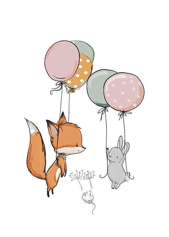 Animals And Balloons No1-1