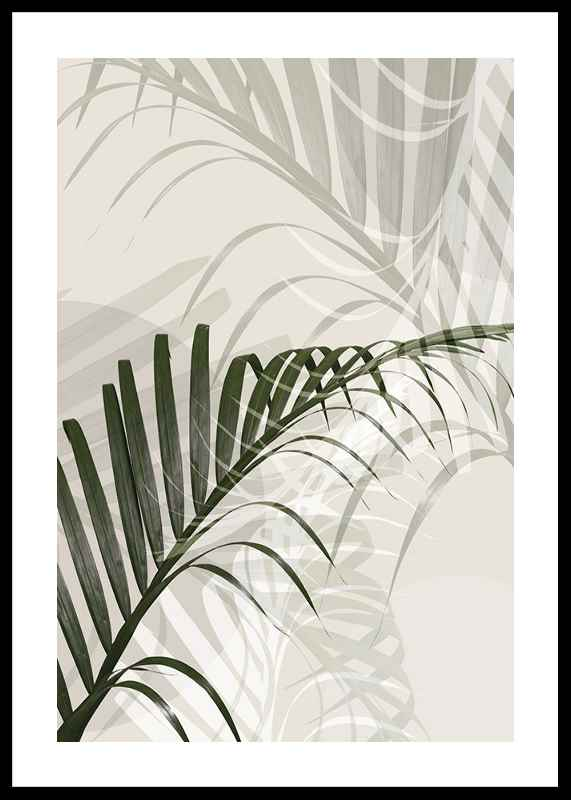 Abstract Palm Leaves No2-0