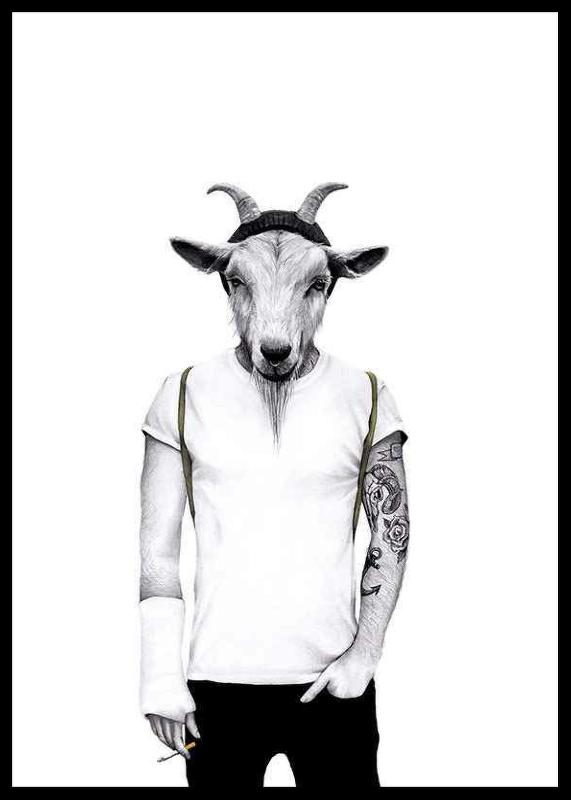 Hipster goat