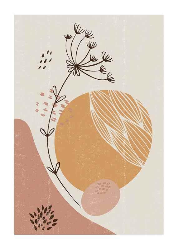Abstract Botanical No2-1