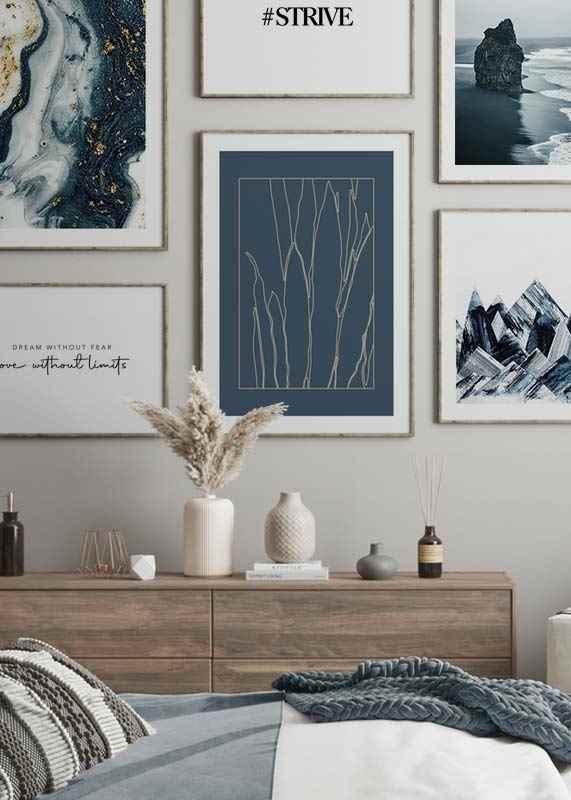 Botanical Line Art No1-4