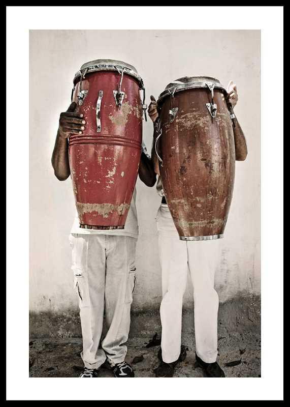 Playing The Bongo