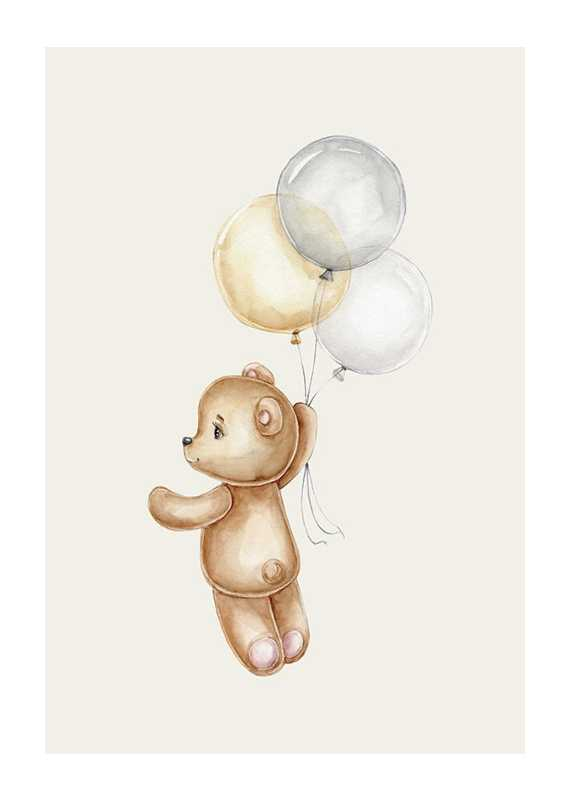 Teddy With Balloons-1