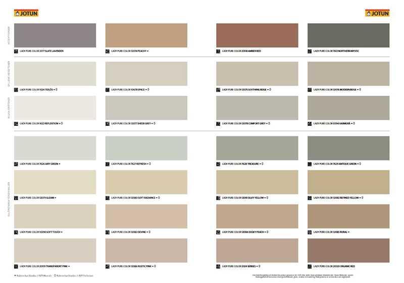 Jotun Color Chart